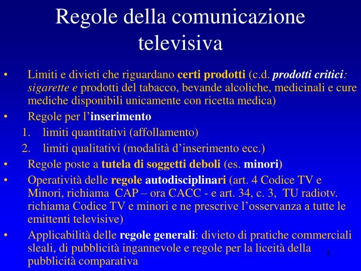 Regole della comunicazione televisiva