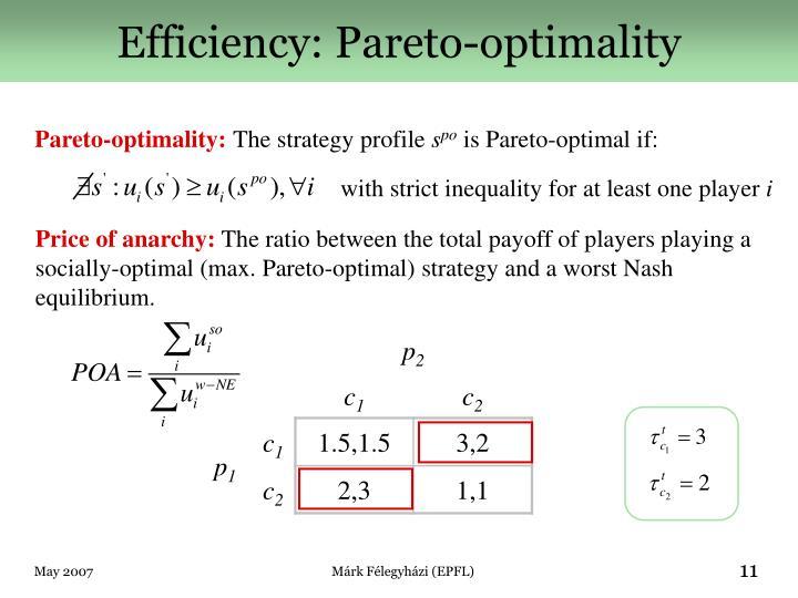 Efficiency: Pareto-optimality