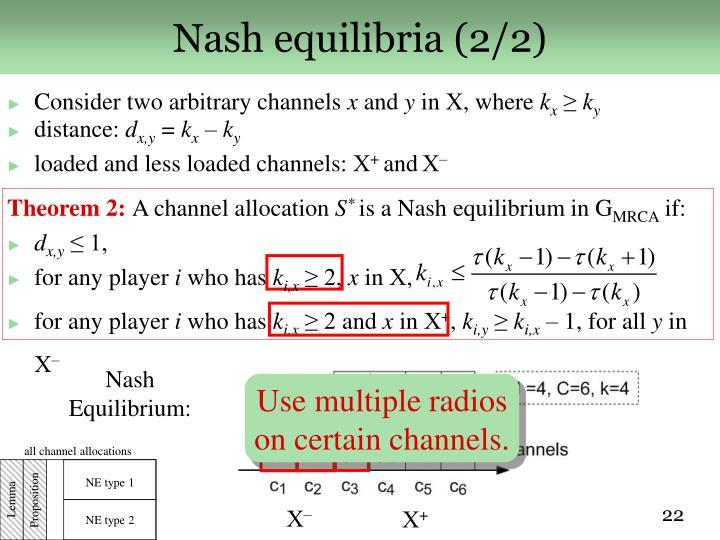 Nash equilibria (2/2)