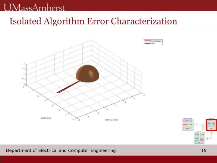Isolated Algorithm Error Characterization