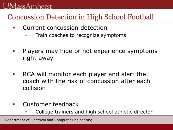 Concussion Detection in High School Football