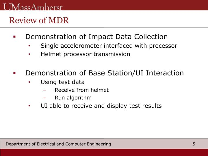 Review of MDR