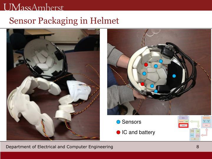 Sensor Packaging in Helmet