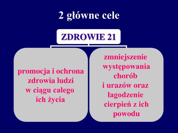 2 główne cele