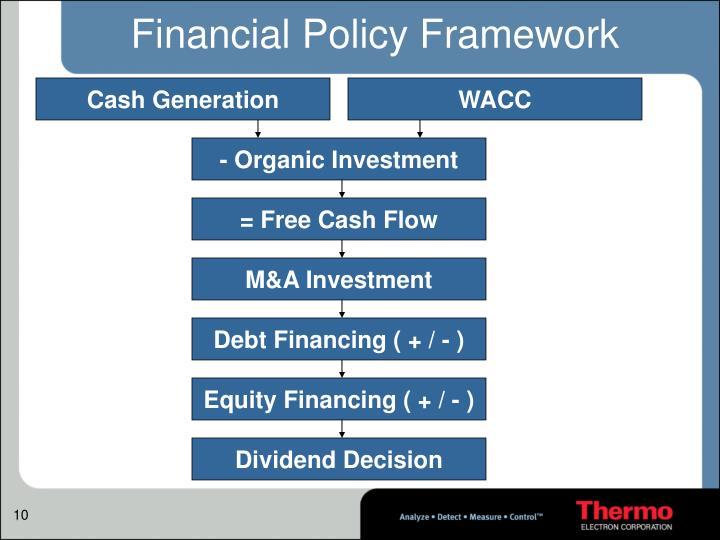 Financial Policy Framework