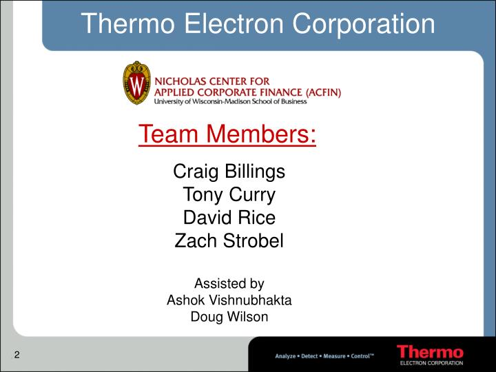 Thermo electron corporation1