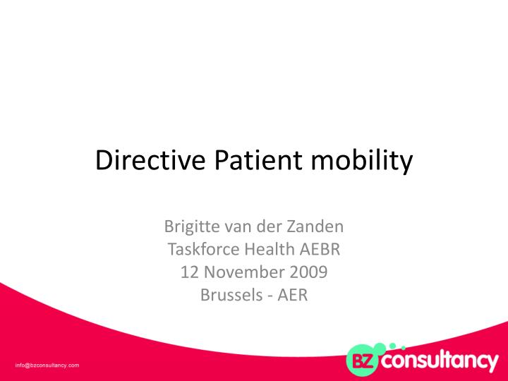 directive patient mobility n.