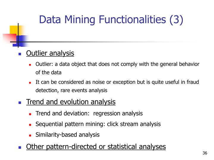 Data Mining Functionalities (3)