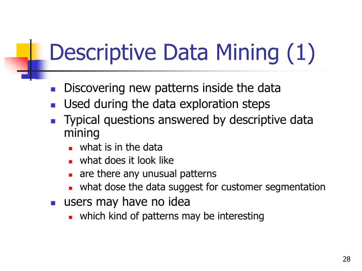 Descriptive Data Mining (1)