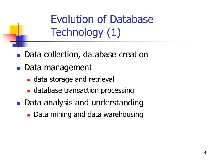 Evolution of Database Technology (1)
