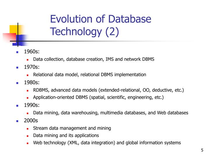 Evolution of Database Technology (2)