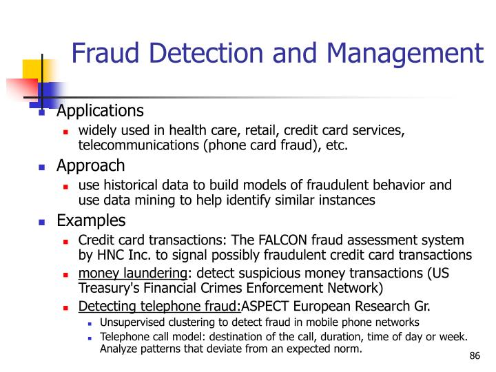 Fraud Detection and Management