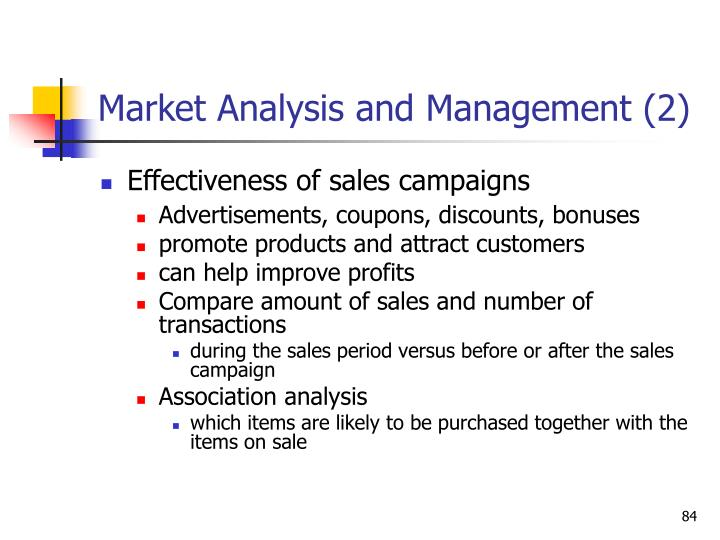Market Analysis and Management