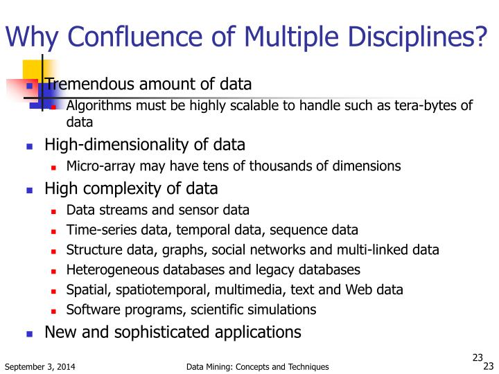 Why Confluence of Multiple Disciplines?