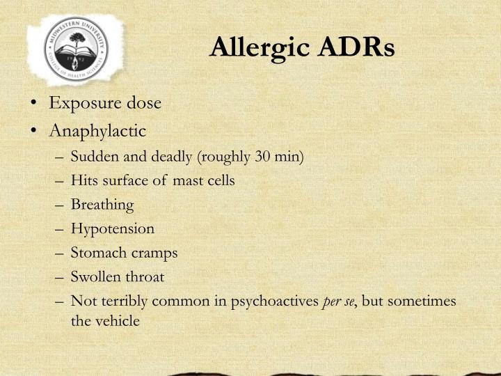 Allergic ADRs