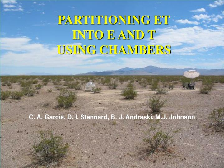 partitioning et into e and t using chambers n.