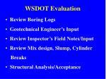 wsdot evaluation