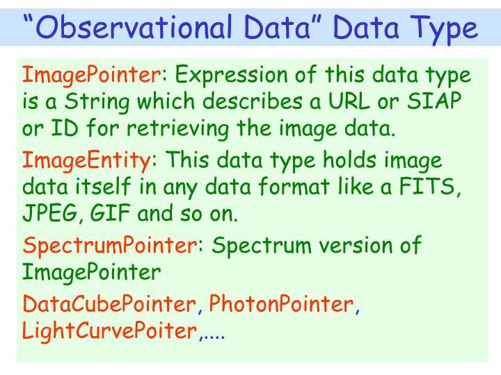 """Observational Data"" Data Type"