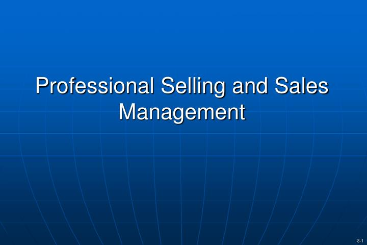 professional selling and sales management n.