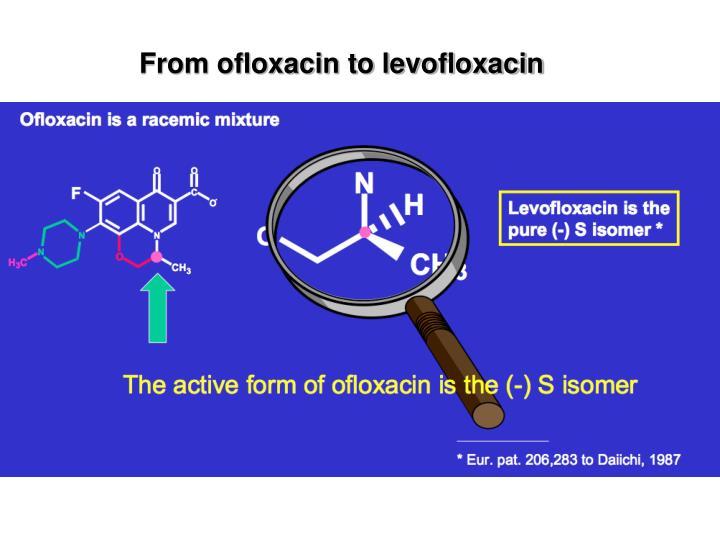 From ofloxacin to levofloxacin