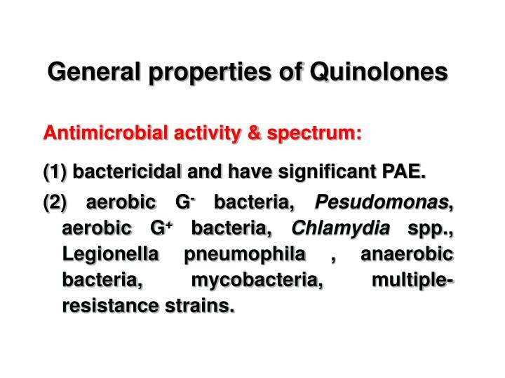 General properties of