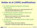 holder et al 1999 modifications