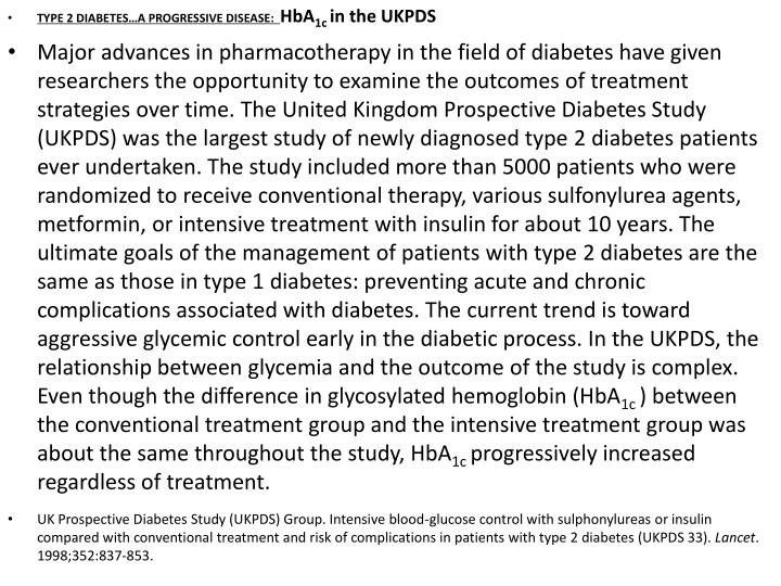 TYPE 2 DIABETES…A PROGRESSIVE DISEASE: