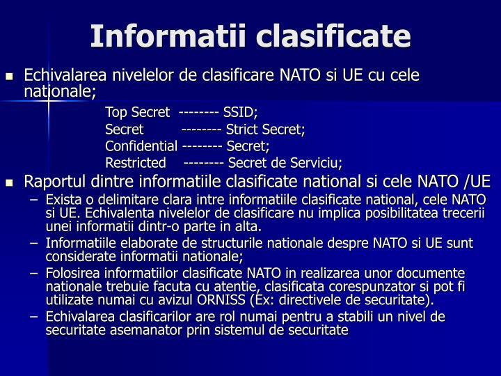 Informatii clasificate