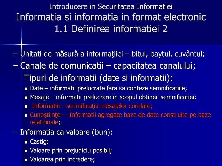 Introducere in Securitatea Informatiei