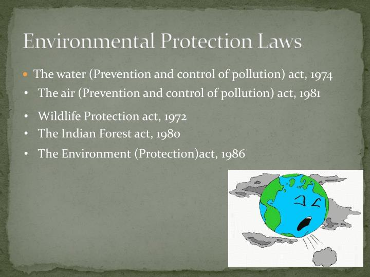 Environmental protection laws