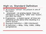 high vs standard definition
