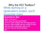 why the hci toolbox