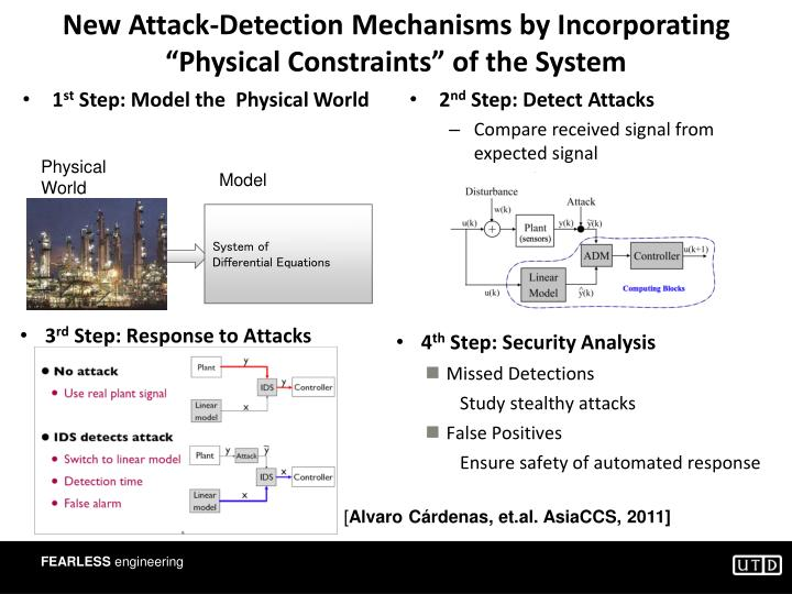 "New Attack-Detection Mechanisms by Incorporating ""Physical Constraints"" of the System"