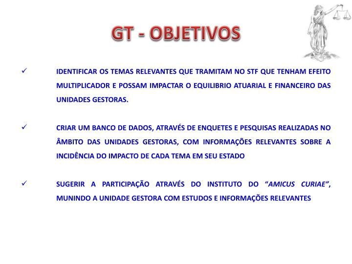 Gt objetivos