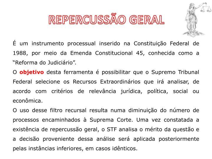 REPERCUSSÃO GERAL
