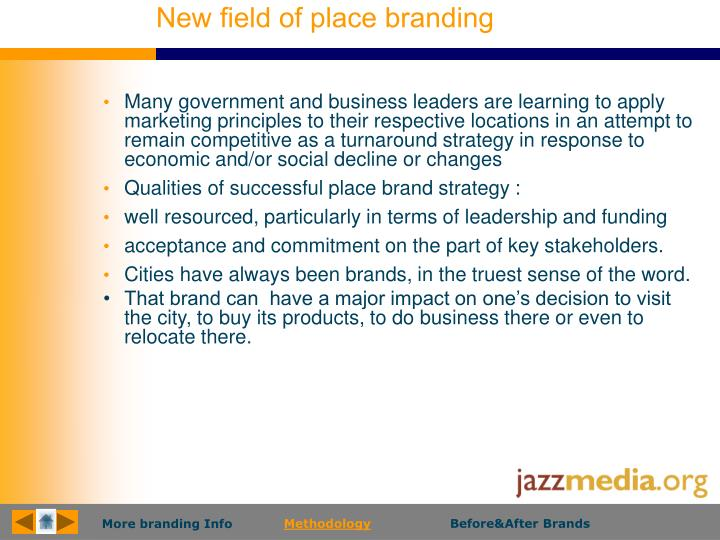 New field of place branding