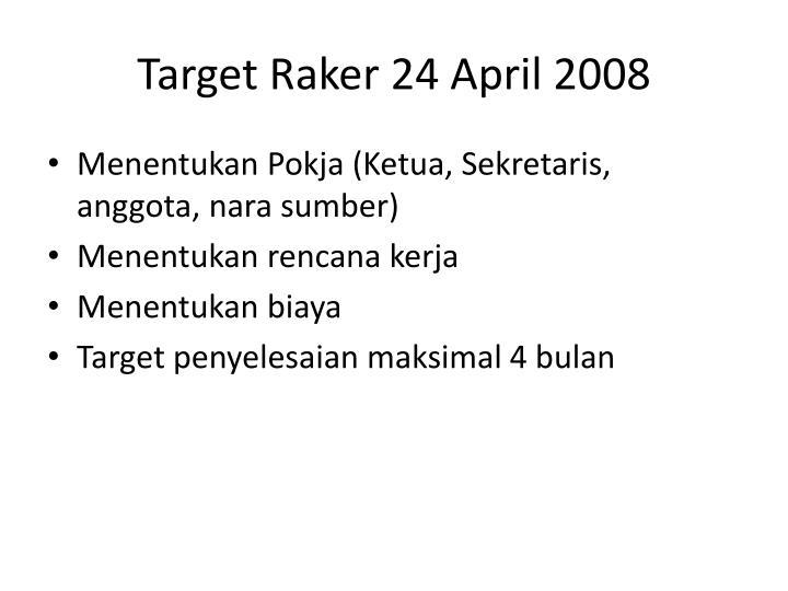 Target Raker 24 April 2008