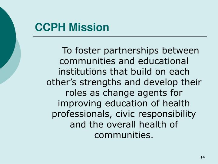 CCPH Mission