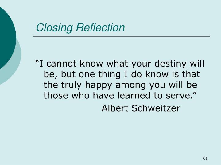 Closing Reflection