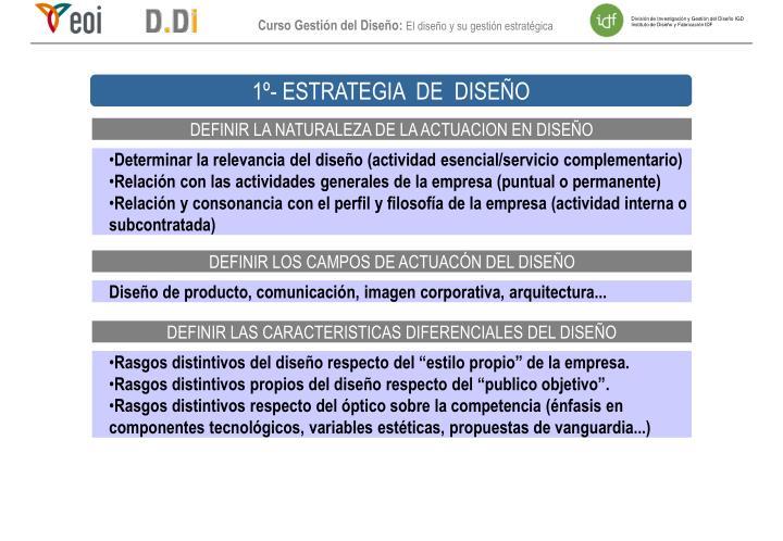 1º- ESTRATEGIA  DE  DISEÑO