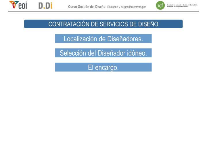 CONTRATACIÓN DE SERVICIOS DE DISEÑO