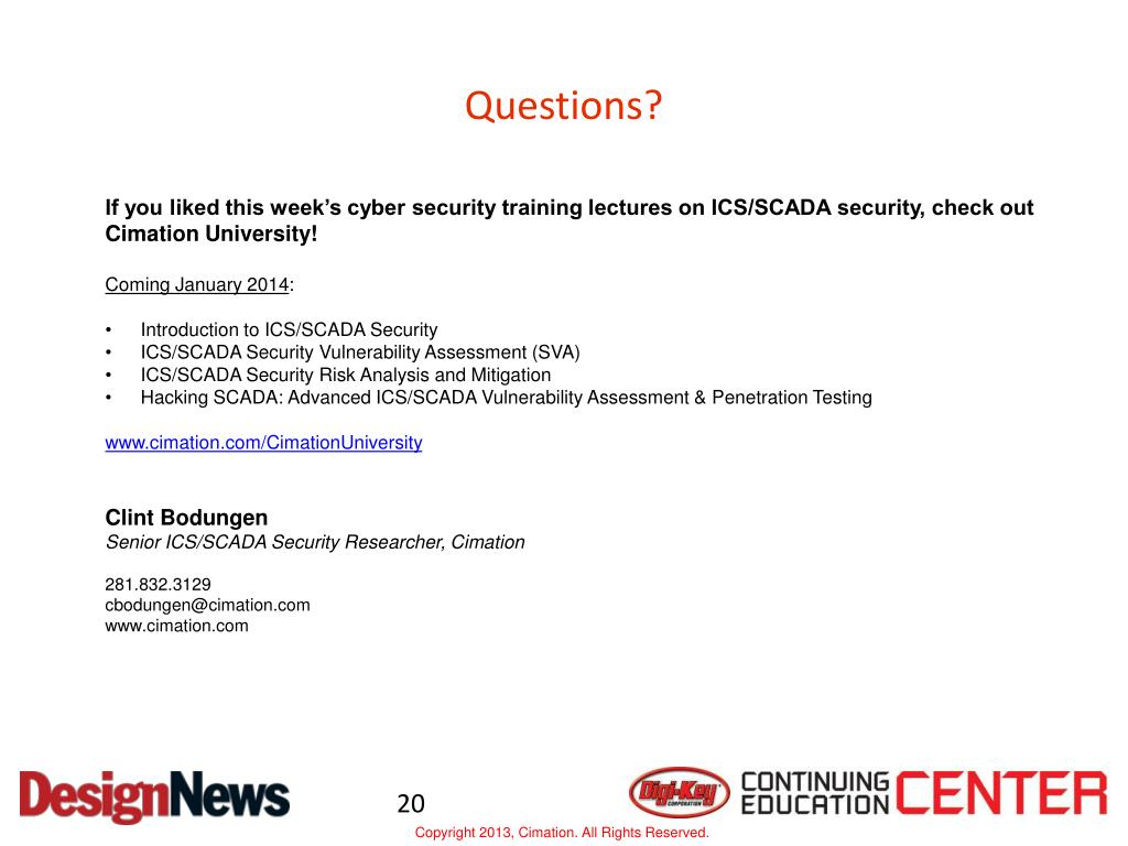 PPT - Introduction to SCADA Security PowerPoint Presentation - ID