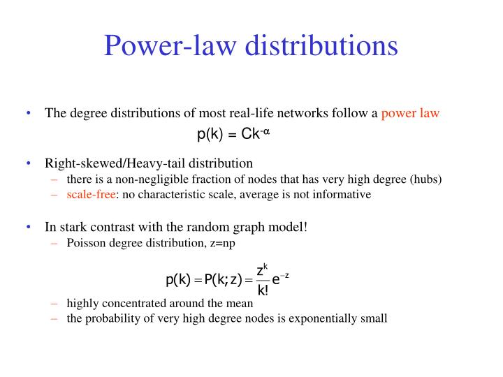 Power-law distributions