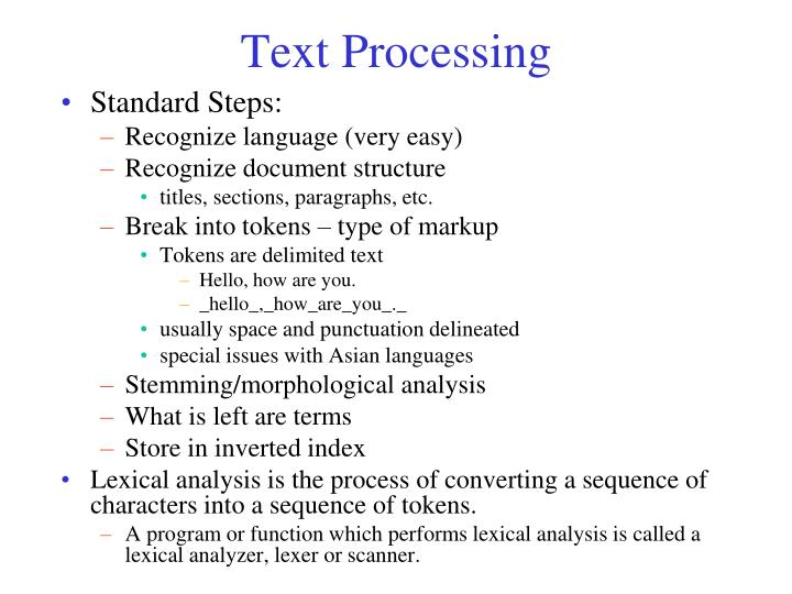 Text Processing