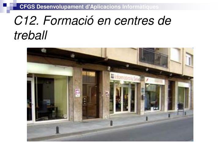 C12. Formació en centres de treball