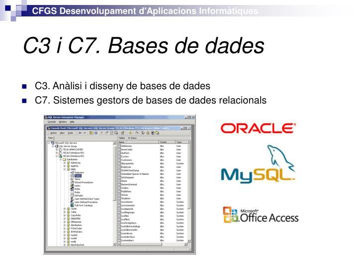 C3 i C7. Bases de dades
