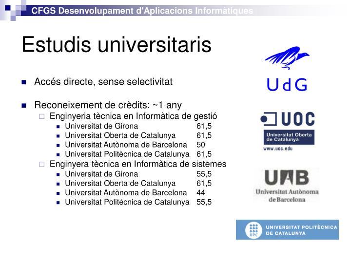 Estudis universitaris