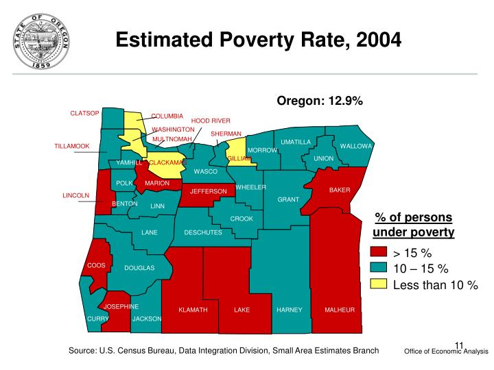 Estimated Poverty Rate, 2004