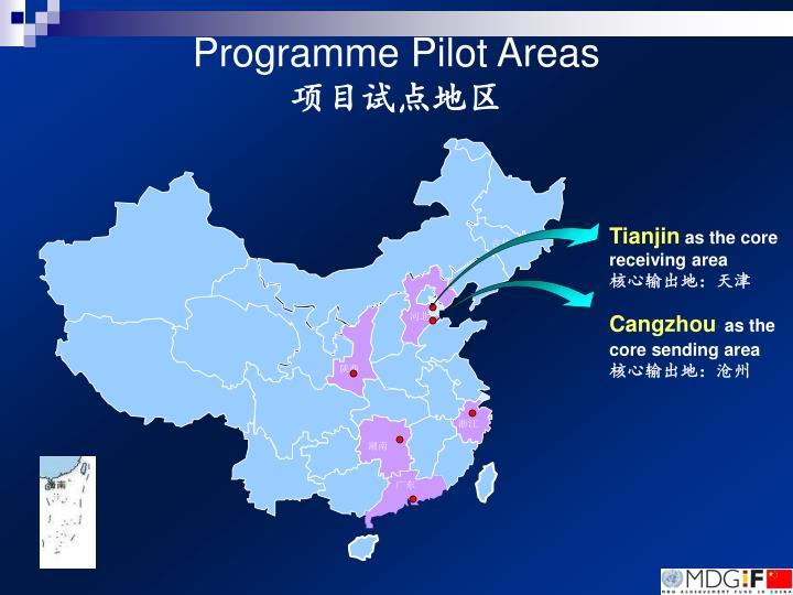 Programme Pilot Areas