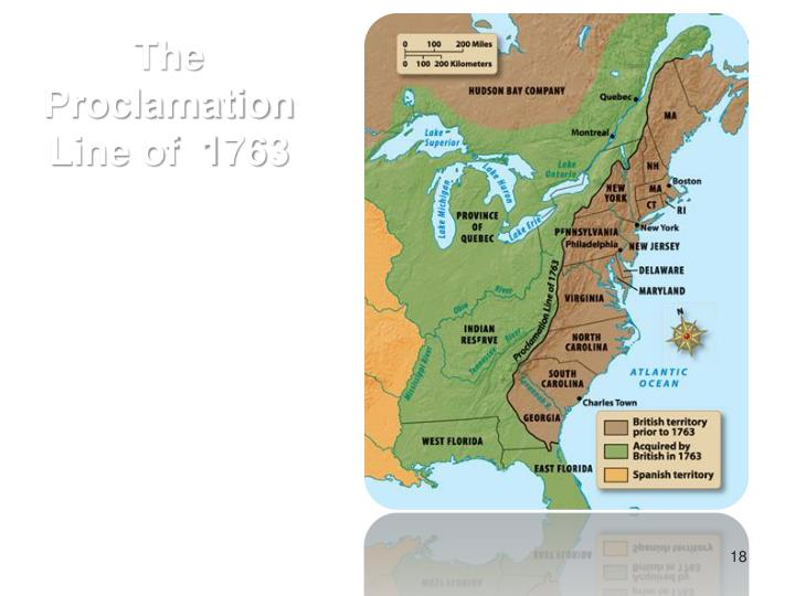 The Proclamation Line of  1763